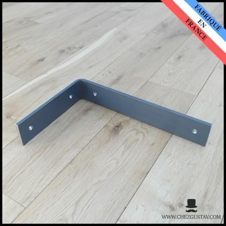 Équerre inversée brute pour planche de 150 mm - Style industriel - Pour tablette en bois - Support mural en métal (acier)